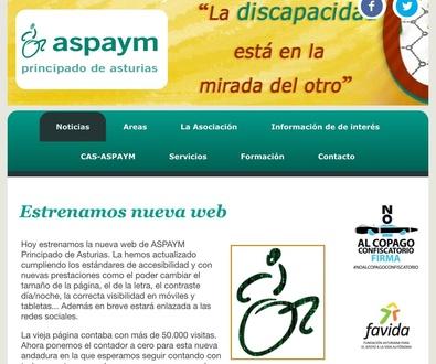 Aspaym Asturias estrena nueva web