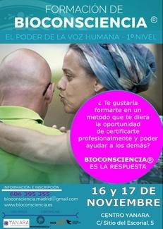 CURSO DE BIOCONSCIENCIA 1º NIVEL 16 Y 17 DE NOVIEMBRE. APÚNTATE!!