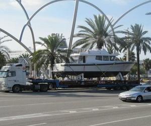 Transporte de barcos en Barcelona