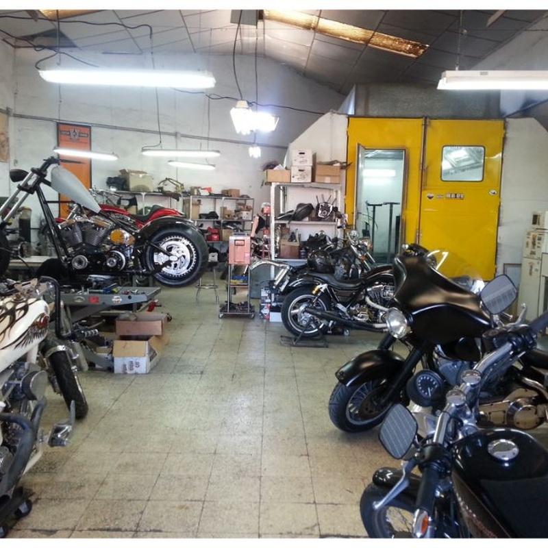 taller reparación Harley