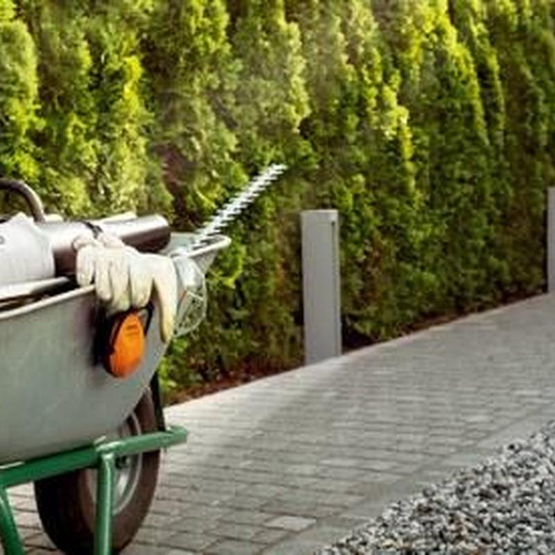 Alquiler de máquinas de jardín