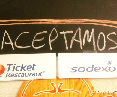 Paga con Ticket Restaurant o Sodexo
