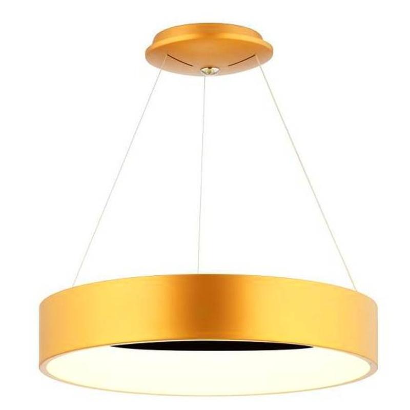 Colgante circular LED 60cm diam. Oro mate
