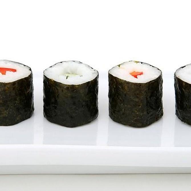La comida asiática y los beneficios del alga nori