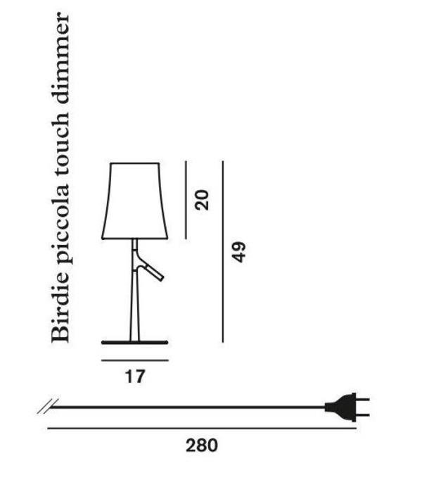 Lámpara Birdie pequeña Foscarini