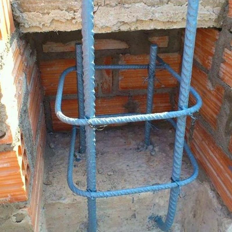 Soluciones constructivas, pilares , cantas de forjado, limpieza del hormigón.