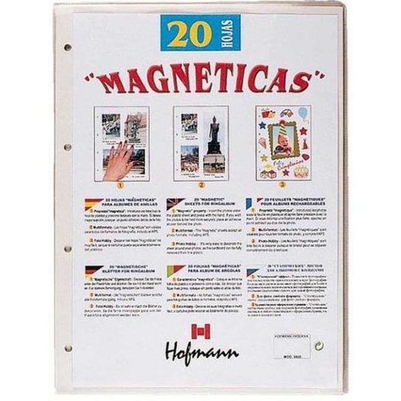Album fotos 9897 adhesivo -color Hofmann. Hojas de recambio: Librería-Papelería. Artículos de Librería Intomar