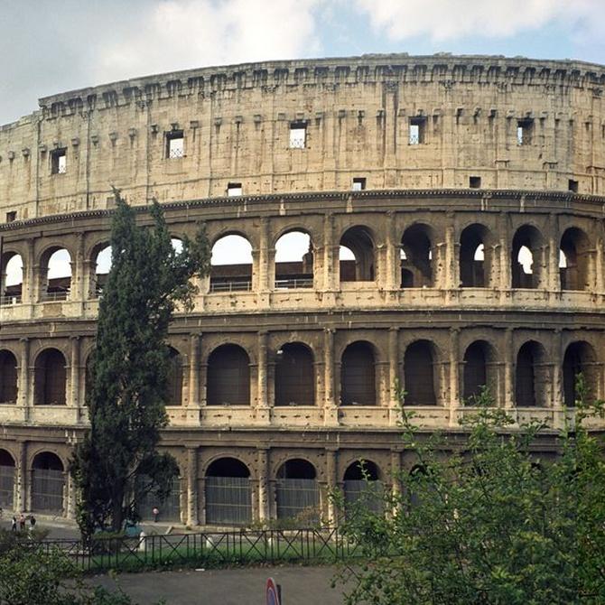 Los toldos del Coliseo de Roma
