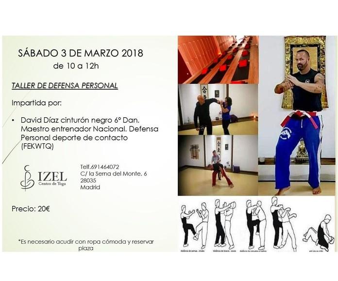 Primer taller de defensa personal en Izel Yoga