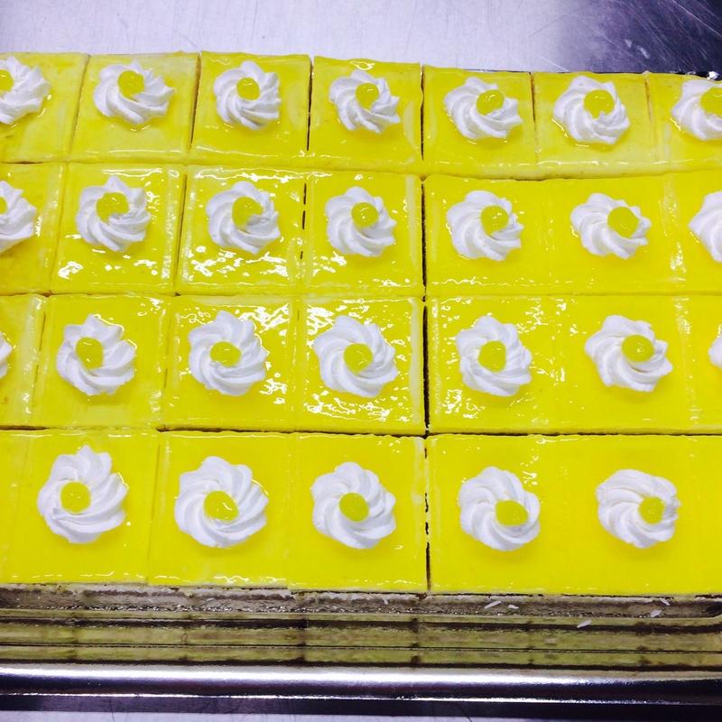 Plancha de limón cortada