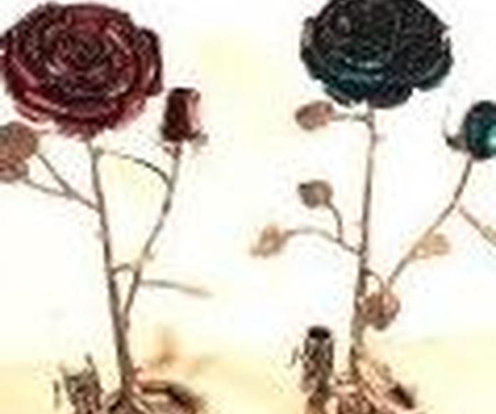Regalar rosas de hierro forjado