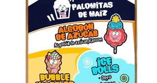 Palomitas, algodón de azúcar, helados