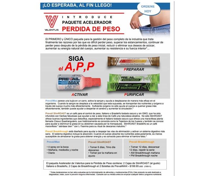 Pack Acelerador pérdida de peso: Productos de Valentus Cantabria