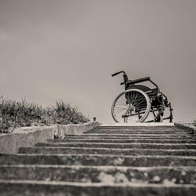 Los componentes de una silla de ruedas