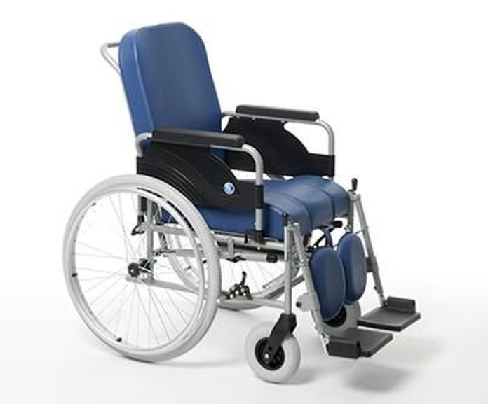 Silla de ruedas fija con inodoro 9300