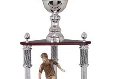Copa de columna con figura de varios deportes. modelo 3077