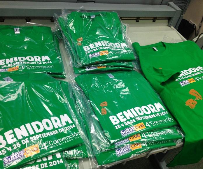camisetas impresas: Catálogo de Copy 5, S.A.