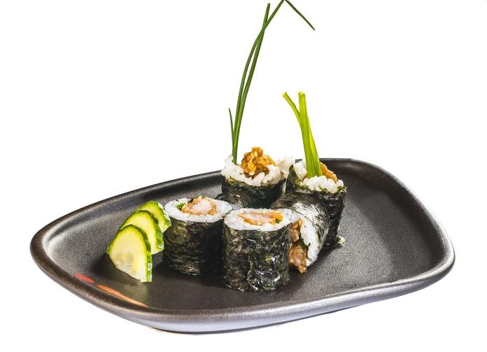 Pollo crujiente con salsa de anguila y cebollino  4,80€: Carta de Restaurante Sowu