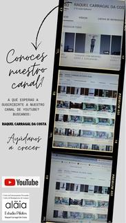 CANAL  YOUTUBE: RAQUEL CARRAGAL DA COSTA