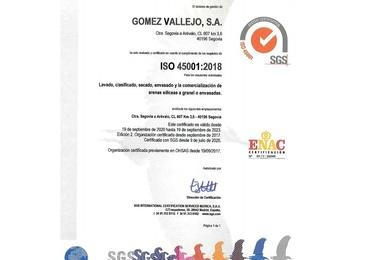 Certificado ISO 45001