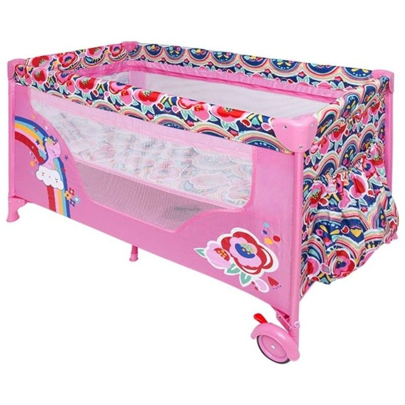Cuna de Viaje Tuc Tuc Zig Zag Enjoy And Dream Rosa: Productos de Mister Baby