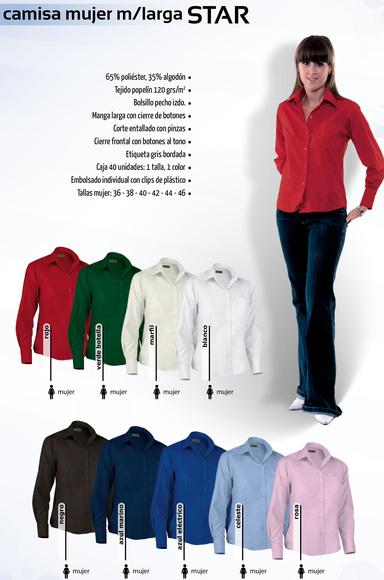 Camisa mujer m/larga: Productos de Gamo Vestuario Laboral