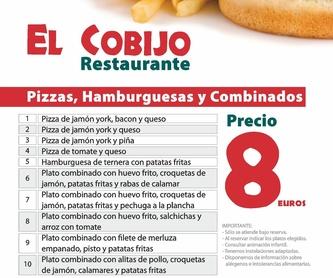 Menú fin de semana:  de Restaurante El Cobijo