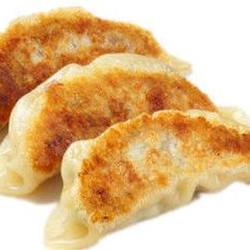 Gyoza casero carne y verdura (6 piezas): Menús de Kiniro Sushi