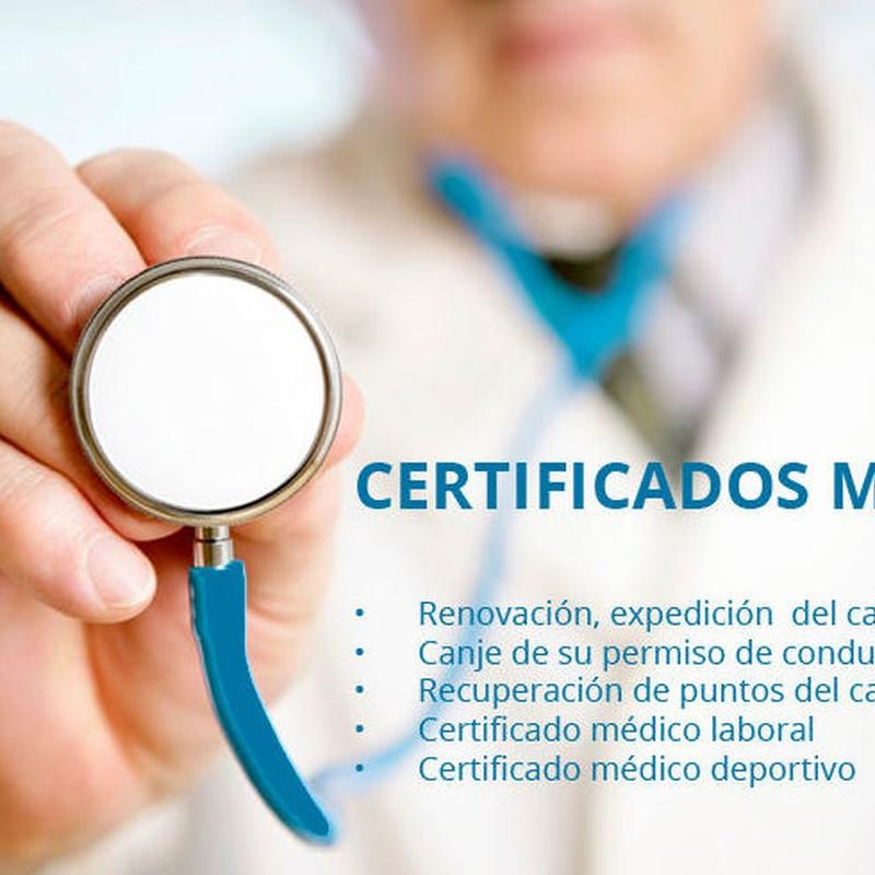 certificados médicos en Usera  - Madrid