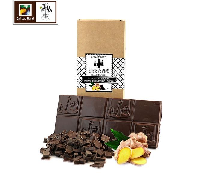 chocolate negro con jengibre