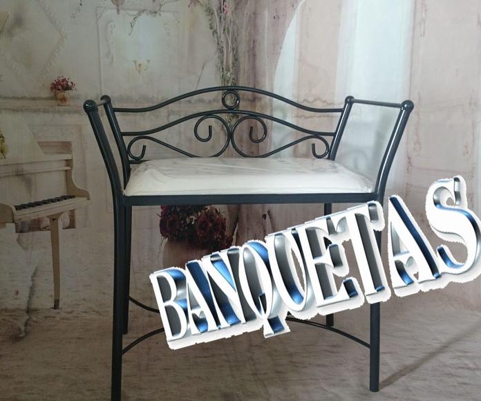 BANQUETAS: Catálogo de muebles de forja de Forja Manuel Jiménez