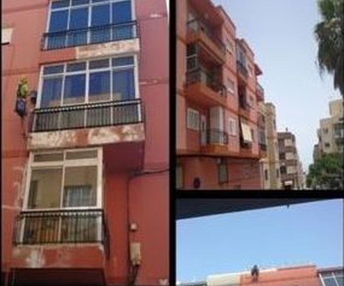 Rehabilitación de fachadas: Servicios de Brillante Trabajos Verticales