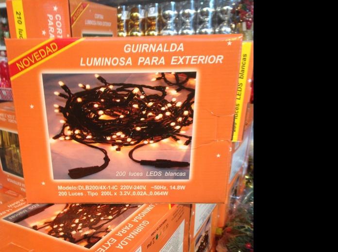 Luz Navidad 200 luz/leds
