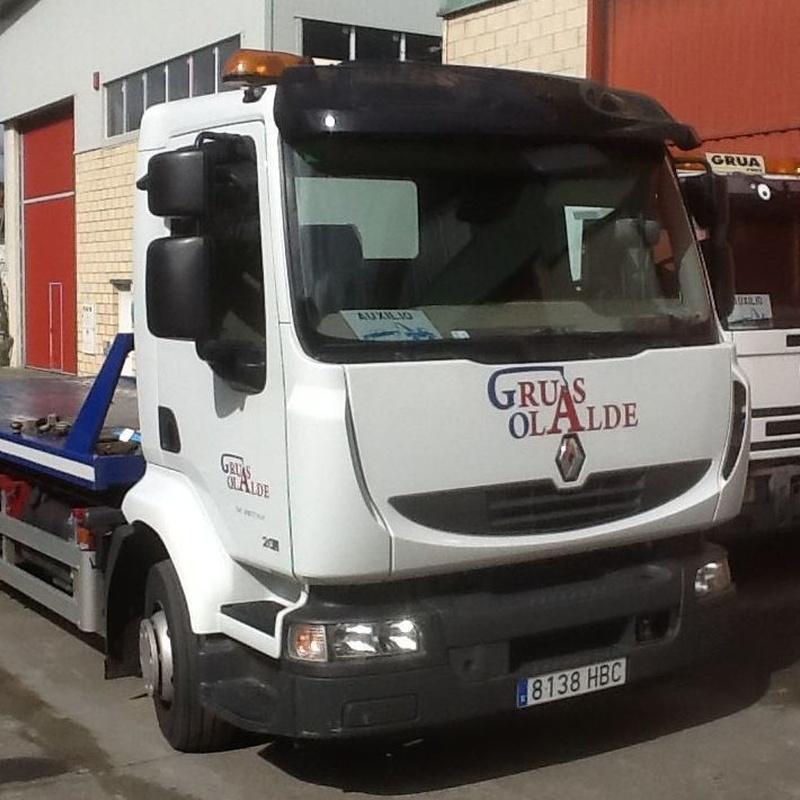 Servicio de grúas 24 horas: Servicios de Grúas Olalde