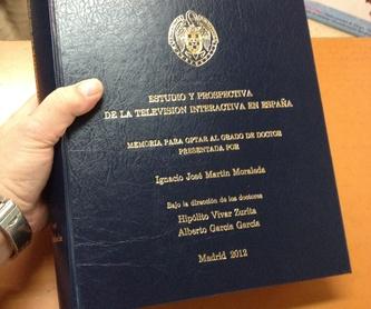 Servicio de encuadernación con COLA PUR: Catálogo de El Sastre De los Libros-Hifer Artes Gráficas