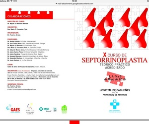 Programa X curso de Septorrinoplastia teorico-practico acreditado