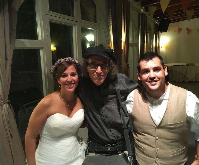 En una boda muy original