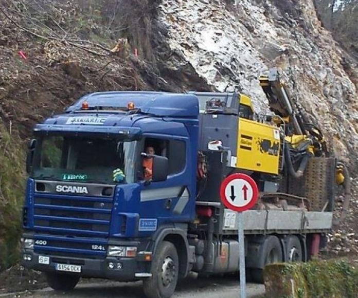 Transportes: Servicios de Exconar Excavaciones y Contratas del Narcea S.L.