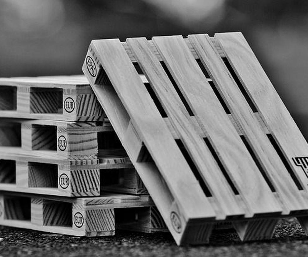 Los materiales de los palets en la industria
