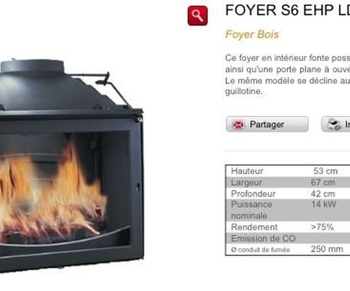 Hogar Brisach Modelo S6 Negro: Catálogo de Chimeneas Ferrol