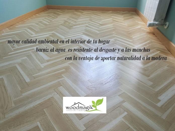 Restaurar madera con barniz al agua en Madrid por woodmagik