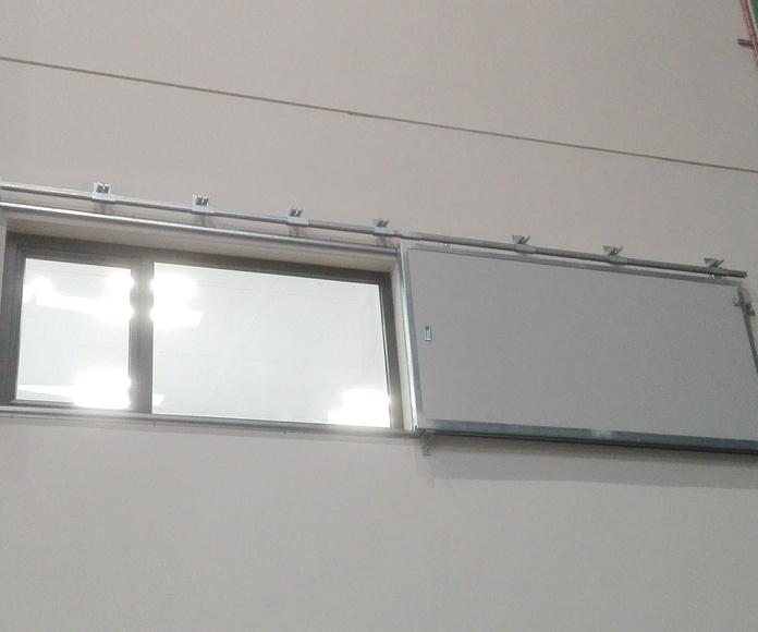 Puerta Corredera cortafuegos tipo ventana contrapeso en cierre EI2-60 en Santander