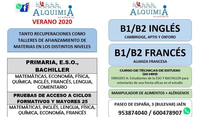 TALLERES DE AFIANZAMIENTO EN MATERIAS: NUESTRA OFERTA FORMATIVA de Alquimia