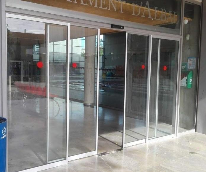 Puerta de cristal corredizas automáticas sistema de evacuación