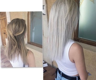 Platinium Blonde Hair