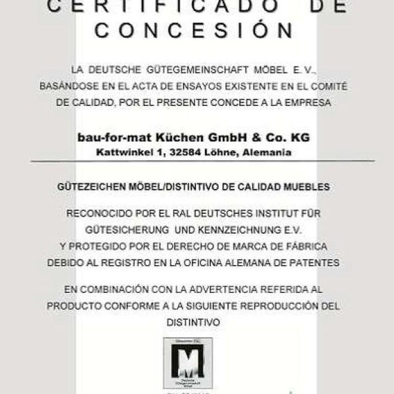 Certificado de Concesión Bauformat