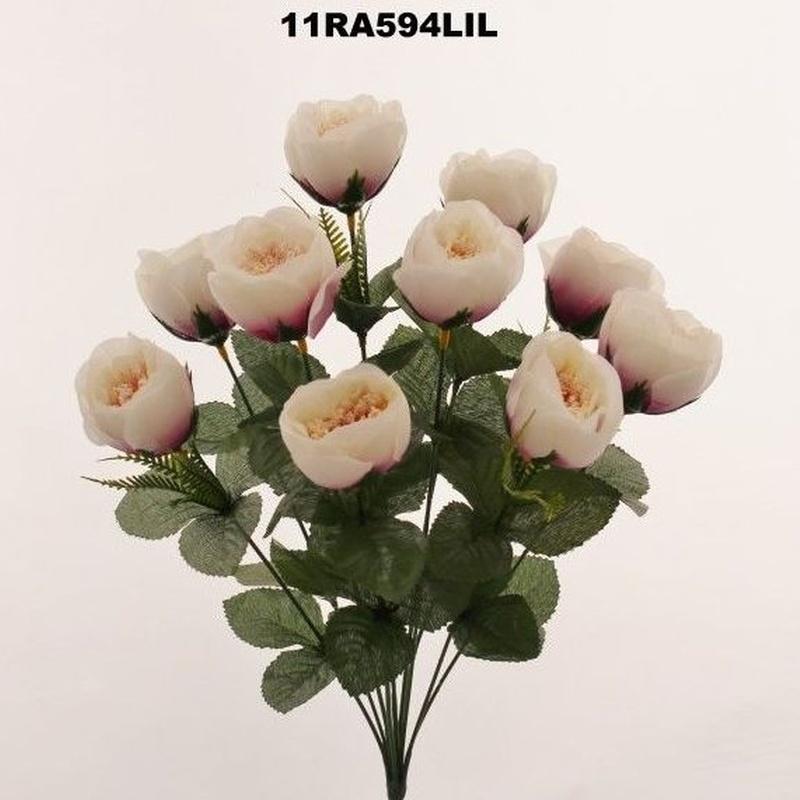 POMITO PEONIAS X10 (BLANCO-ROSA) REF: 11RA594 LIL PRECIO: 1,80€