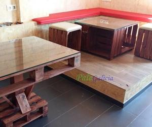 Mobiliario de palets y cajas de madera