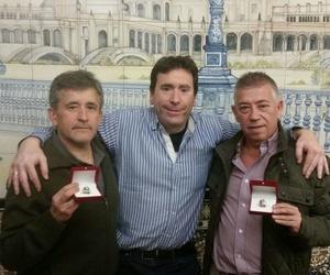 Josele con los campeones, Enrique y Javier