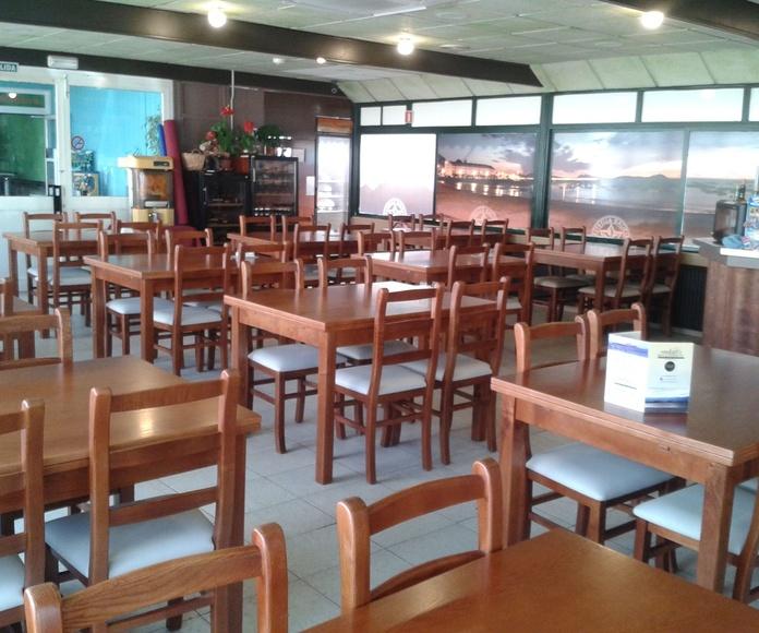 Terraza y Comedores: Carta y Servicios de Ondas de Canido